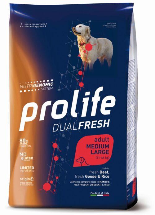 Dog Prolife Adult Medium/Large Beef, Fresh Goose & Rice 2,5 kg e 12 kg