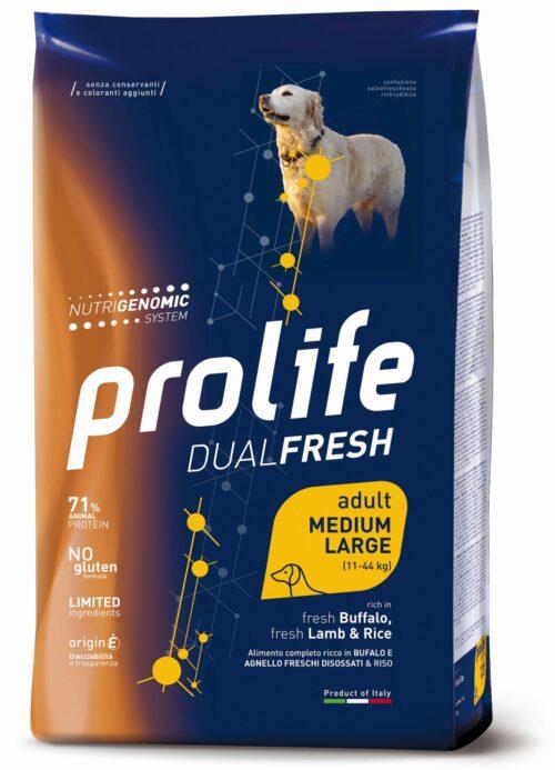 Dog Prolife Dual Fresh Adult Medium/Large Lamb, Buffalo & Rice 2,5 kg e 12 kg