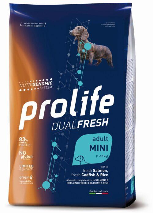 Dog Prolife Dual Fresh Adult Mini Salmon, Codfish & Rice 2 kg e 7 kg