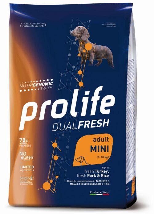 DOG PROLIFE ADULT TURKEY:PORK&RICE MINI 2 KG
