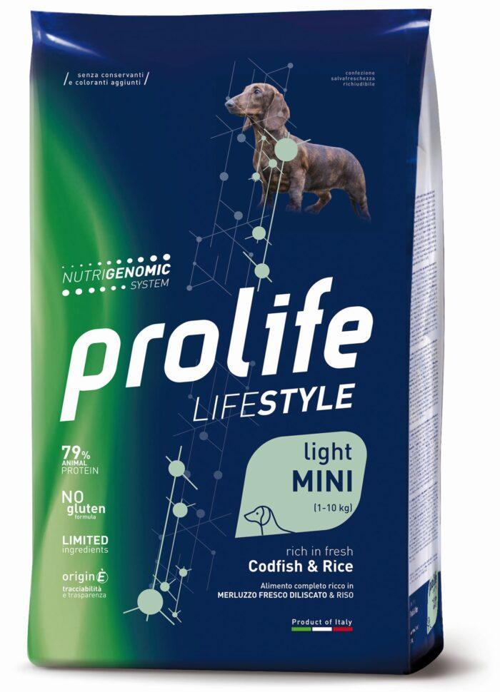 Dog Prolife Lifestyle Light Adult Mini Codfish & Rice 2 kg e 7 kg
