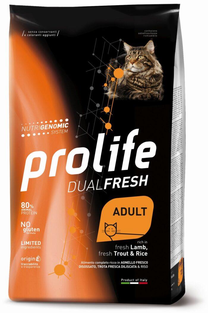 Cat Prolife Dual Fresh Adult fresh Lamb, fresh Trout & Rice 1,5 kg e 7 kg