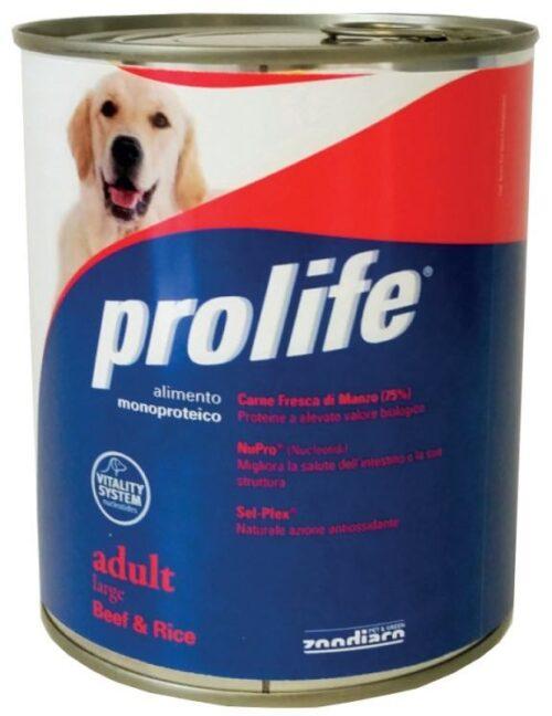 Dog Prolife Wet Adult Large Beef & Rice 800 gr