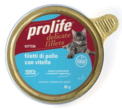 Cat Prolife Kitten - Filetti di Pollo con Vitello 85 gr
