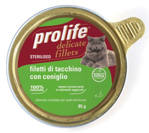 Cat Prolife Adult Sterilised - Filetti di Tacchino con Coniglio 85 gr