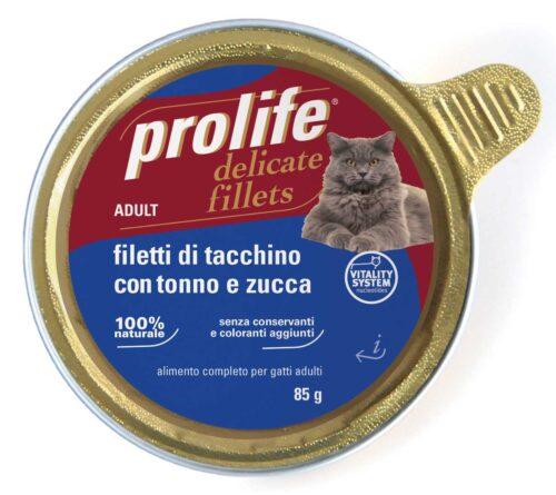 Cat Prolife Adult - Filetti di Tacchino con Tonno e Zucca 85 gr