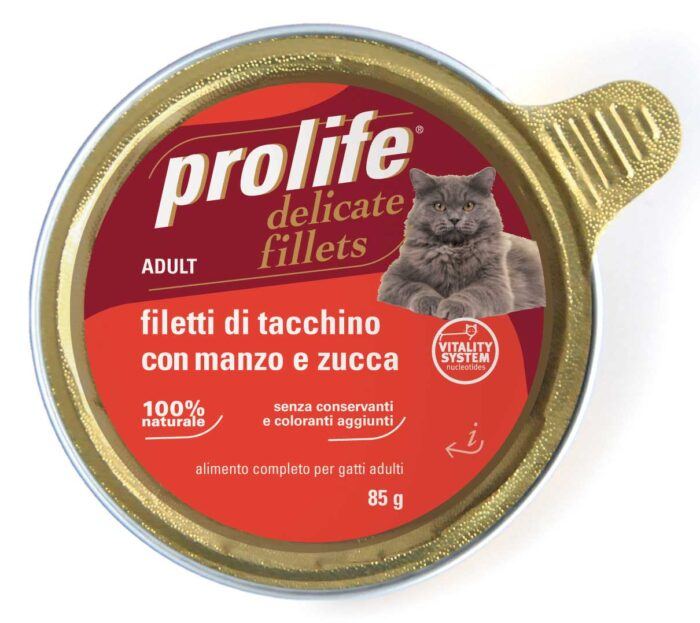 Cat Prolife Adult - Filetti di Tacchino con Manzo e Zucca 85 gr