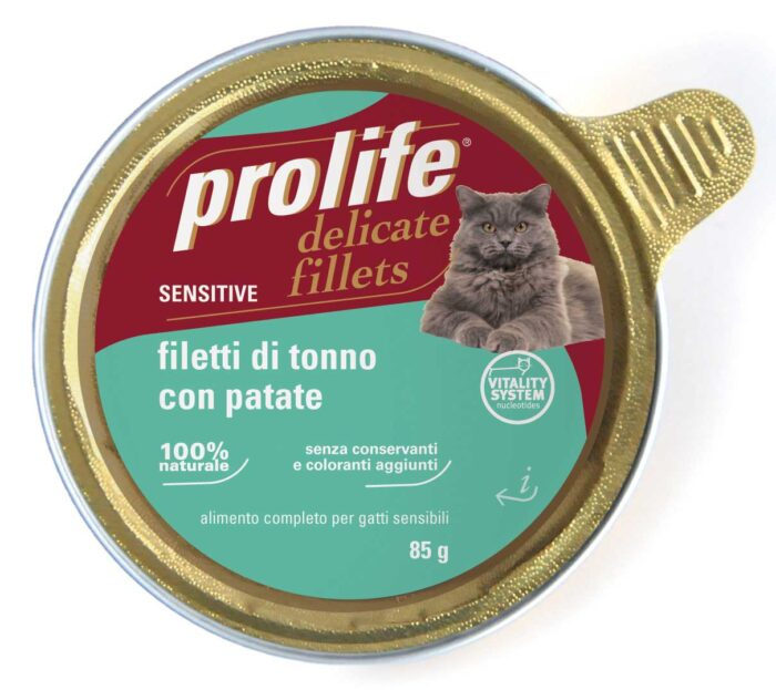 Cat Prolife Adult Sensitive - Filetti di Tonno con Patate 85 gr