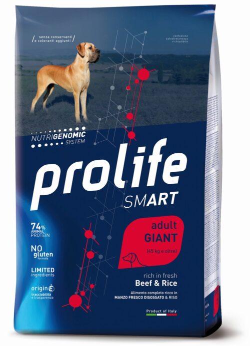 DOG PROLIFE ADULT BEEF&RICE GIANT 12 KG