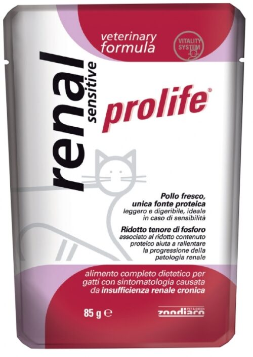 Cat Prolife Veterinary Formula Renal Sensitive – busta 85 gr