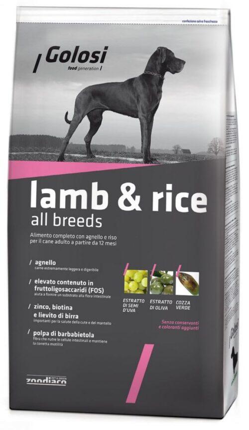 Golosi Dog Lamb & Rice all breeds