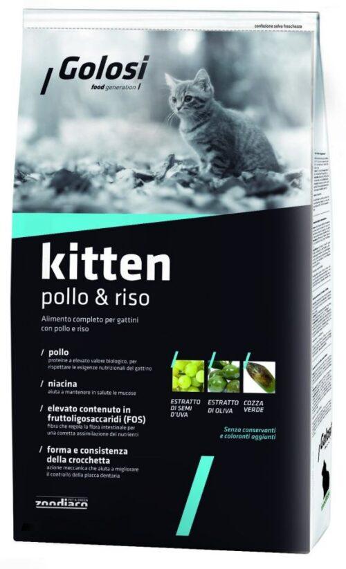 Golosi Cat Kitten Pollo e Riso 1,5 kg