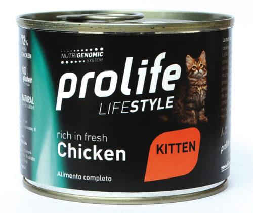 CAT-PROLIFE-WET-LIFESTYLE-KITTEN-CHICKEN---200-GR