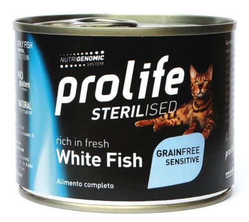 CAT PROLIFE WET STERILISED GRAINFREE SENSITIVE WHITE FISH - 200 GR