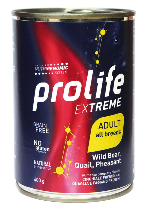 DOG PROLIFE WET EXTREME WILD BOARD, QUAIL & PHEASANT - 400 gr