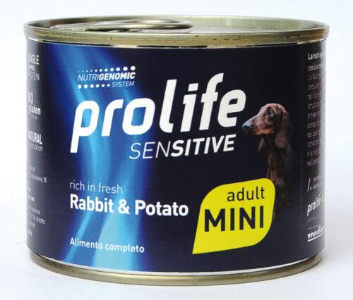 DOG PROLIFE WET SENSITIVE MINI RABBIT & POTATO - 200 gr