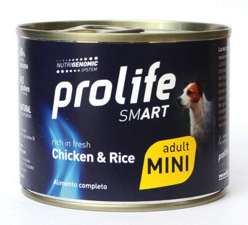 DOG PROLIFE WET SMART ADULT MINI CHICKEN & RICE - 200 gr